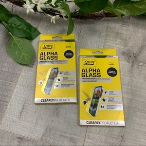 New Two  i Phone Otter Box Glass Screen Protector